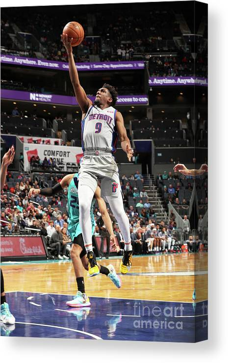 Nba Pro Basketball Canvas Print featuring the photograph Langston Galloway by Kent Smith