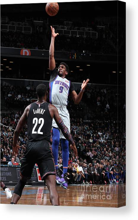 Nba Pro Basketball Canvas Print featuring the photograph Langston Galloway by Nathaniel S. Butler