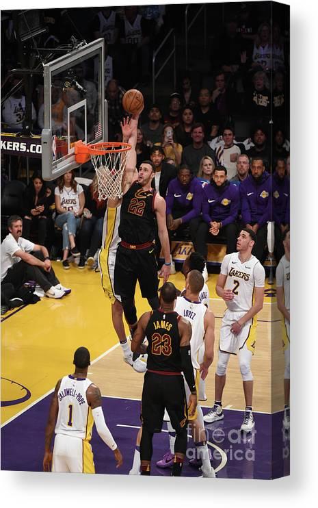 Nba Pro Basketball Canvas Print featuring the photograph Larry Nance by Adam Pantozzi