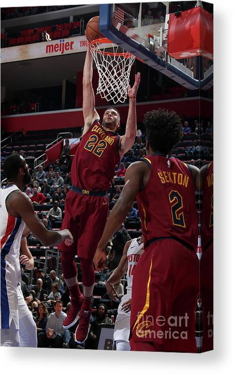Nba Pro Basketball Canvas Print featuring the photograph Larry Nance by Brian Sevald