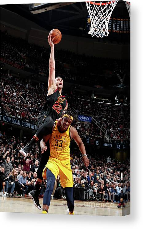 Playoffs Canvas Print featuring the photograph Larry Nance by Nathaniel S. Butler