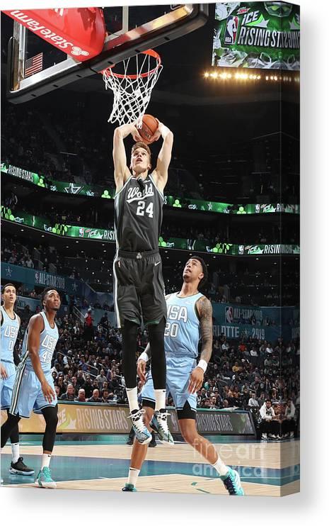 Nba Pro Basketball Canvas Print featuring the photograph Lauri Markkanen by Nathaniel S. Butler