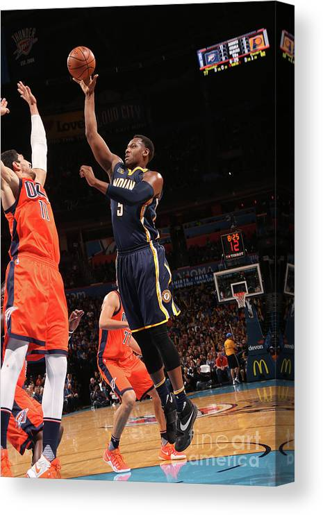 Nba Pro Basketball Canvas Print featuring the photograph Lavoy Allen by Layne Murdoch