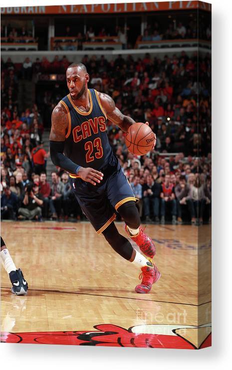 Nba Pro Basketball Canvas Print featuring the photograph Lebron James by Jeff Haynes
