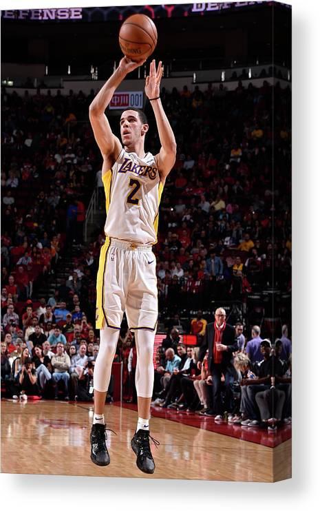 Nba Pro Basketball Canvas Print featuring the photograph Lonzo Ball by Bill Baptist