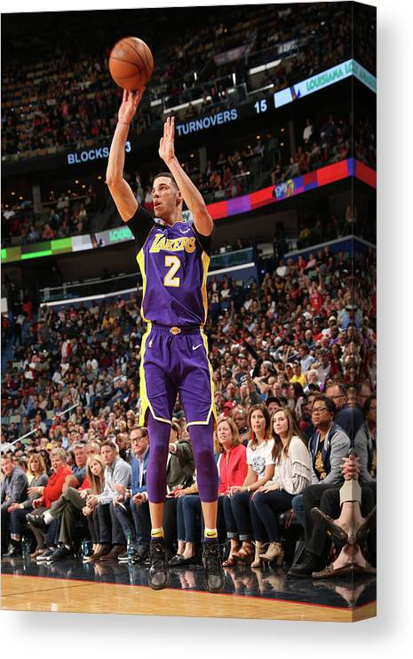 Smoothie King Center Canvas Print featuring the photograph Lonzo Ball by Layne Murdoch