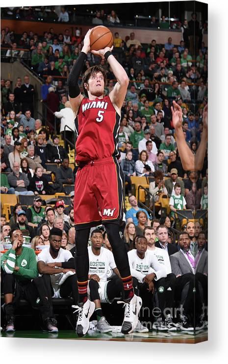 Nba Pro Basketball Canvas Print featuring the photograph Luke Babbitt by Brian Babineau