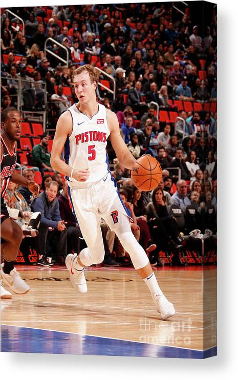 Nba Pro Basketball Canvas Print featuring the photograph Luke Kennard by Brian Sevald