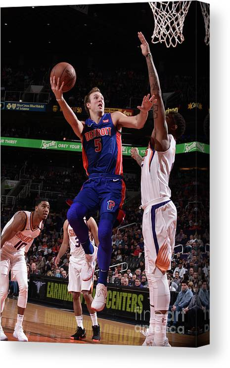 Nba Pro Basketball Canvas Print featuring the photograph Luke Kennard by Michael Gonzales