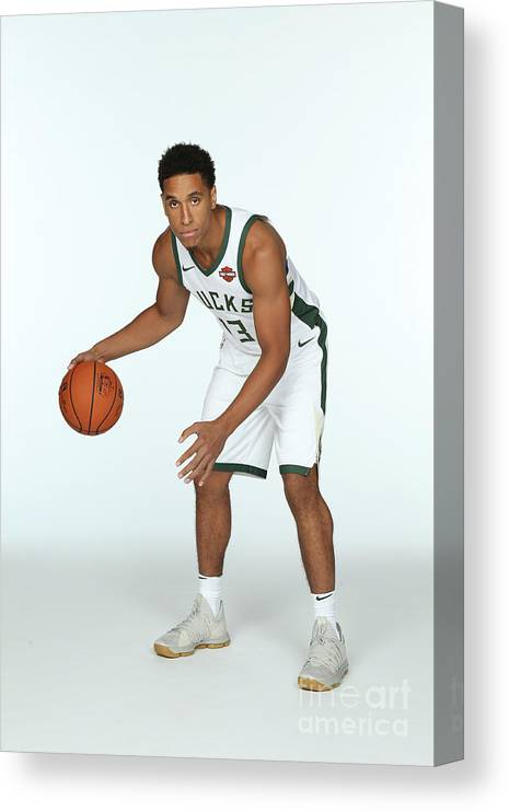Media Day Canvas Print featuring the photograph Malcolm Brogdon by Gary Dineen