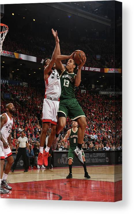 Playoffs Canvas Print featuring the photograph Malcolm Brogdon by Ron Turenne