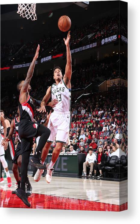 Nba Pro Basketball Canvas Print featuring the photograph Malcolm Brogdon by Sam Forencich
