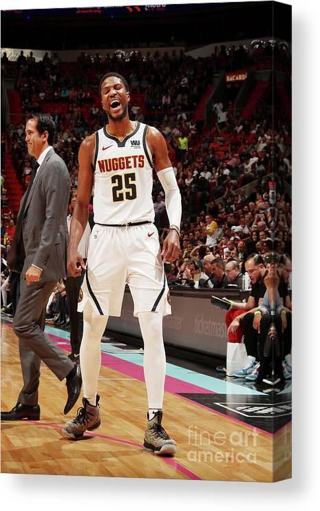 Nba Pro Basketball Canvas Print featuring the photograph Malik Beasley by Issac Baldizon