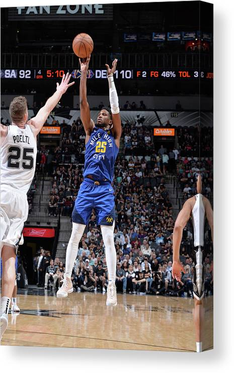 Playoffs Canvas Print featuring the photograph Malik Beasley by Mark Sobhani