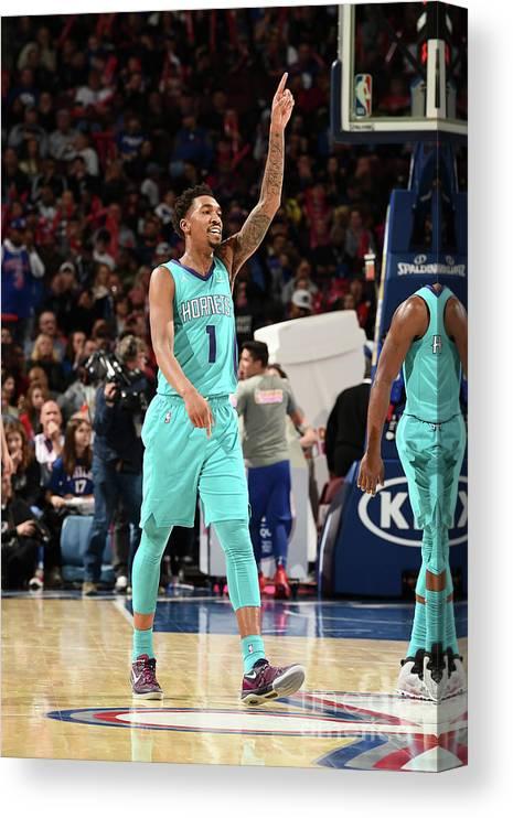 Nba Pro Basketball Canvas Print featuring the photograph Malik Monk by David Dow