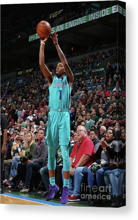 Nba Pro Basketball Canvas Print featuring the photograph Malik Monk by Gary Dineen