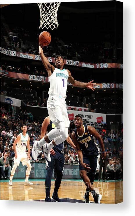 Nba Pro Basketball Canvas Print featuring the photograph Malik Monk by Kent Smith