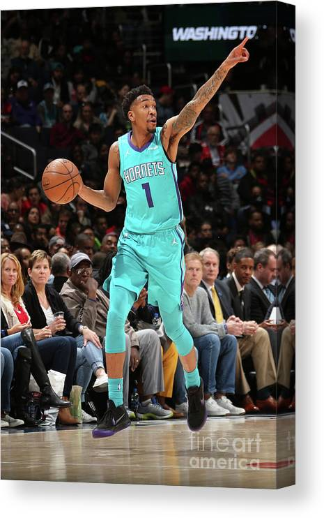 Nba Pro Basketball Canvas Print featuring the photograph Malik Monk by Ned Dishman