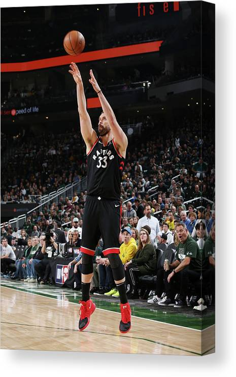 Game Two Canvas Print featuring the photograph Marc Gasol by Gary Dineen