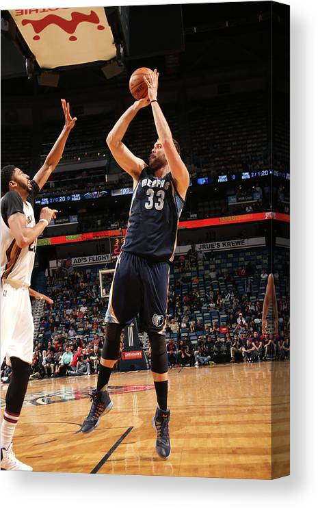Smoothie King Center Canvas Print featuring the photograph Marc Gasol by Layne Murdoch
