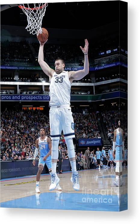Nba Pro Basketball Canvas Print featuring the photograph Marc Gasol by Rocky Widner