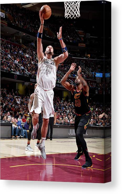 Nba Pro Basketball Canvas Print featuring the photograph Marcin Gortat by David Liam Kyle