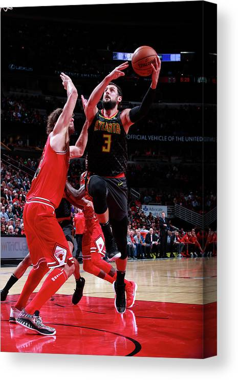 Nba Pro Basketball Canvas Print featuring the photograph Marco Belinelli by Jeff Haynes