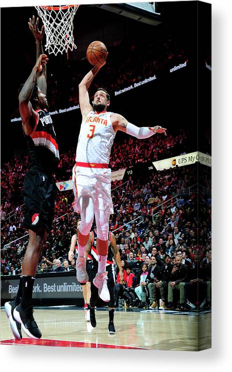 Atlanta Canvas Print featuring the photograph Marco Belinelli by Scott Cunningham