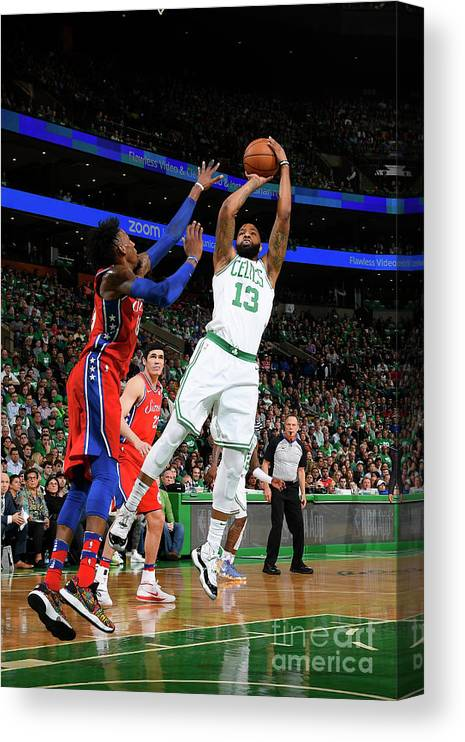 Playoffs Canvas Print featuring the photograph Marcus Morris by Brian Babineau