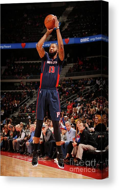 Nba Pro Basketball Canvas Print featuring the photograph Marcus Morris by Brian Sevald