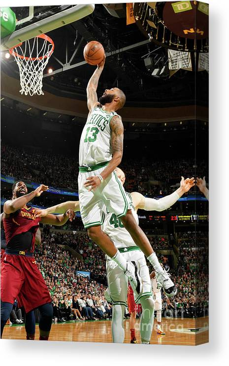 Playoffs Canvas Print featuring the photograph Marcus Morris by Jesse D. Garrabrant