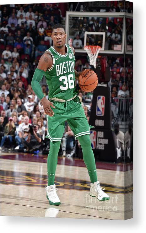 Nba Pro Basketball Canvas Print featuring the photograph Marcus Smart by David Liam Kyle