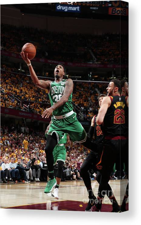 Playoffs Canvas Print featuring the photograph Marcus Smart by Nathaniel S. Butler