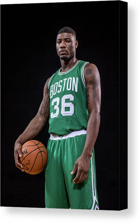 Nba Pro Basketball Canvas Print featuring the photograph Marcus Smart by Nick Laham
