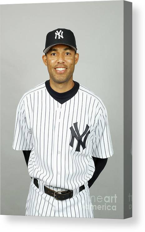 Media Day Canvas Print featuring the photograph Mariano Rivera by Mlb Photos