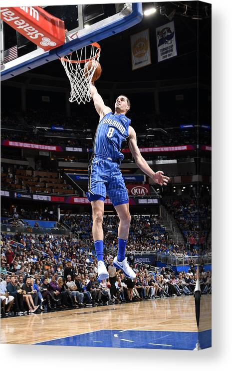 Nba Pro Basketball Canvas Print featuring the photograph Mario Hezonja by Fernando Medina