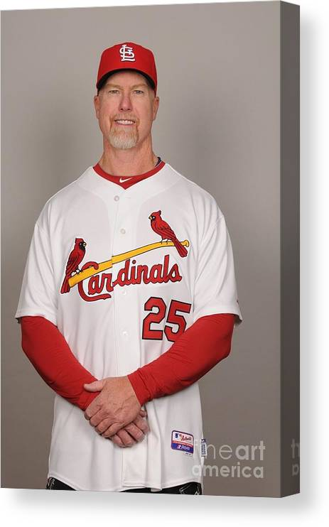 Media Day Canvas Print featuring the photograph Mark Rogers by Tony Firriolo