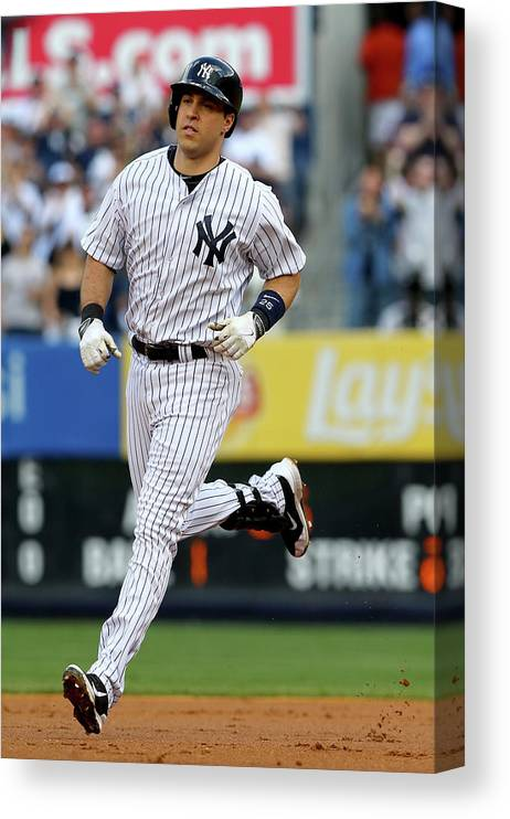 American League Baseball Canvas Print featuring the photograph Mark Teixeira by Elsa