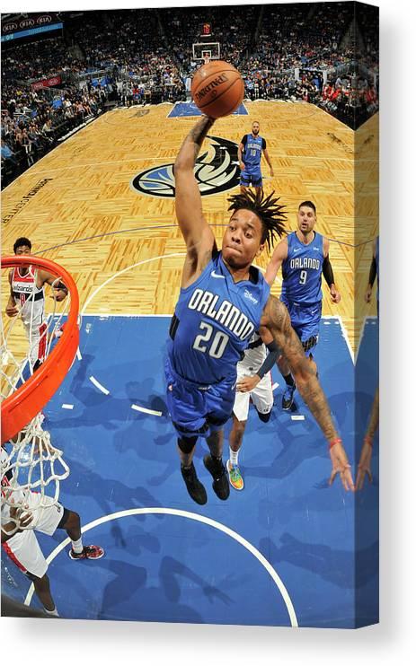 Nba Pro Basketball Canvas Print featuring the photograph Markelle Fultz by Fernando Medina