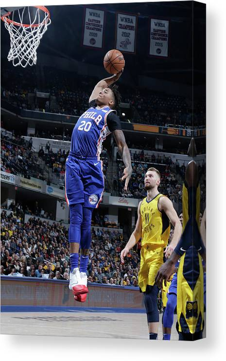 Nba Pro Basketball Canvas Print featuring the photograph Markelle Fultz by Ron Hoskins