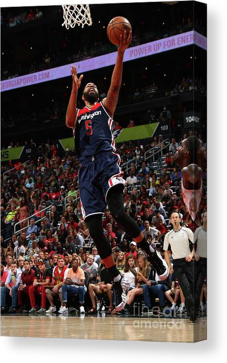Atlanta Canvas Print featuring the photograph Markieff Morris by Kevin Liles