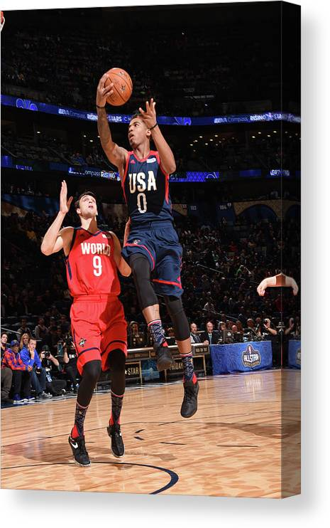Event Canvas Print featuring the photograph Marquese Chriss by Andrew D. Bernstein