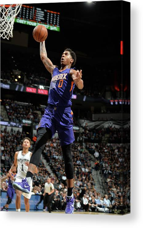 Nba Pro Basketball Canvas Print featuring the photograph Marquese Chriss by Mark Sobhani