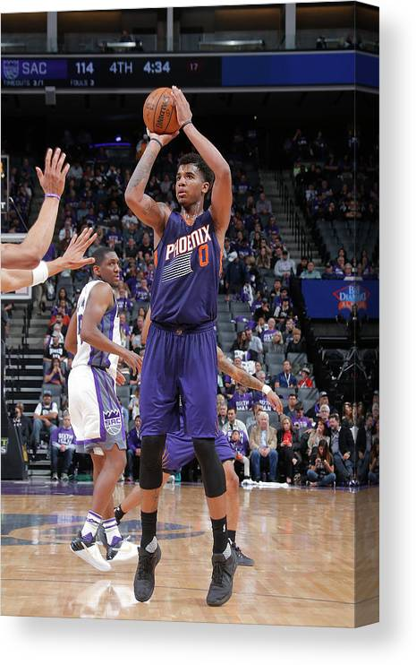 Nba Pro Basketball Canvas Print featuring the photograph Marquese Chriss by Rocky Widner