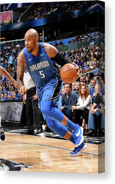 Nba Pro Basketball Canvas Print featuring the photograph Marreese Speights by Fernando Medina