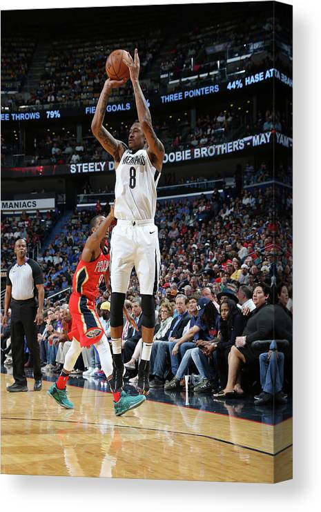 Smoothie King Center Canvas Print featuring the photograph Marshon Brooks by Layne Murdoch Jr.