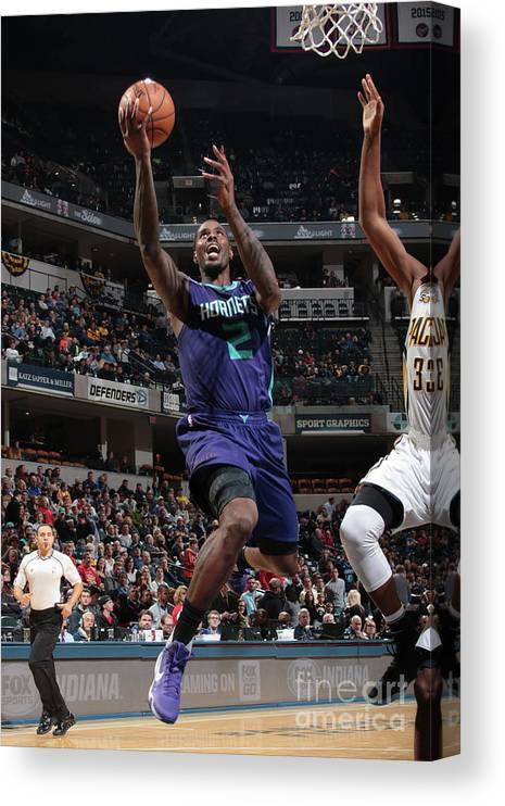 Nba Pro Basketball Canvas Print featuring the photograph Marvin Williams by Ron Hoskins