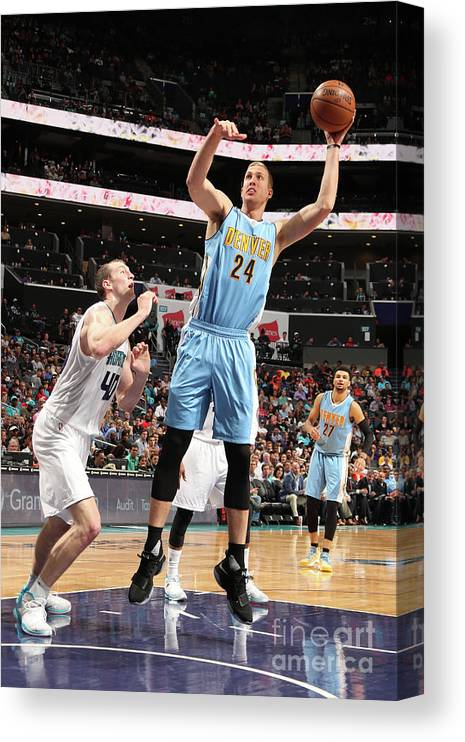 Nba Pro Basketball Canvas Print featuring the photograph Mason Plumlee by Kent Smith