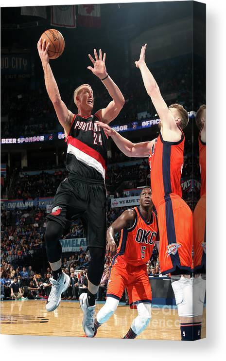Nba Pro Basketball Canvas Print featuring the photograph Mason Plumlee by Layne Murdoch