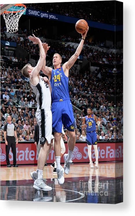 Playoffs Canvas Print featuring the photograph Mason Plumlee by Mark Sobhani